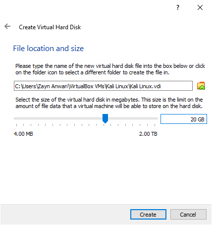 Manage hard disk size