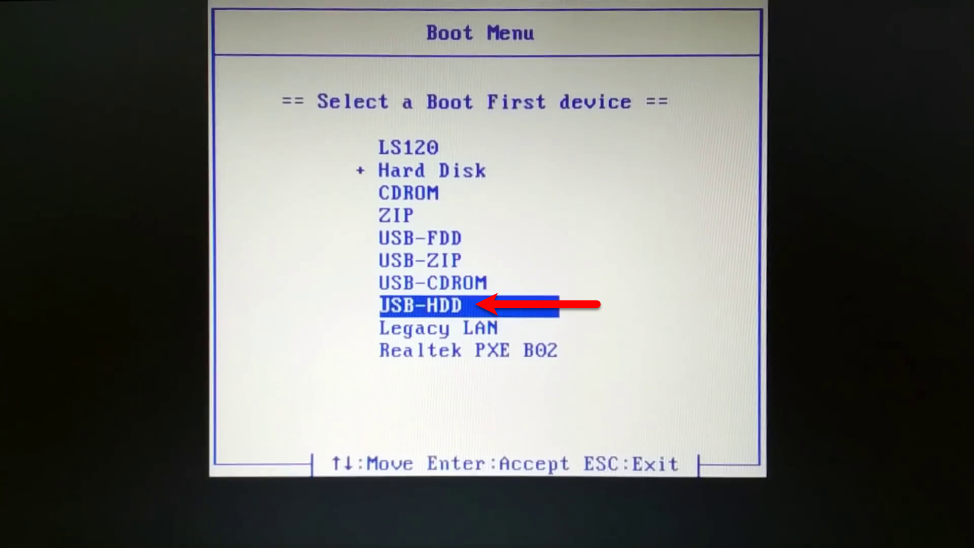 Boot from USB Drive