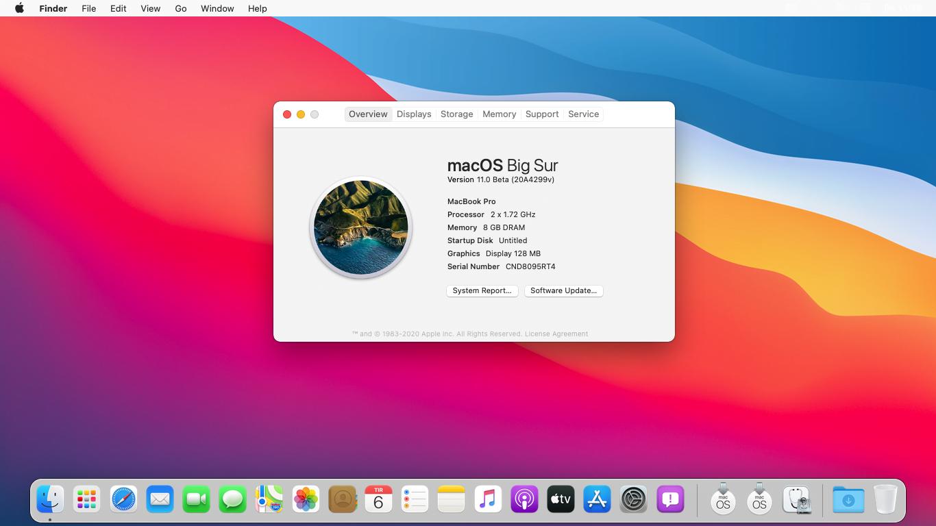 macOS 11 Big Sur installed