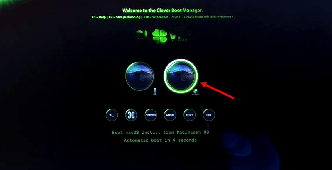 Boot from Macintosh HD