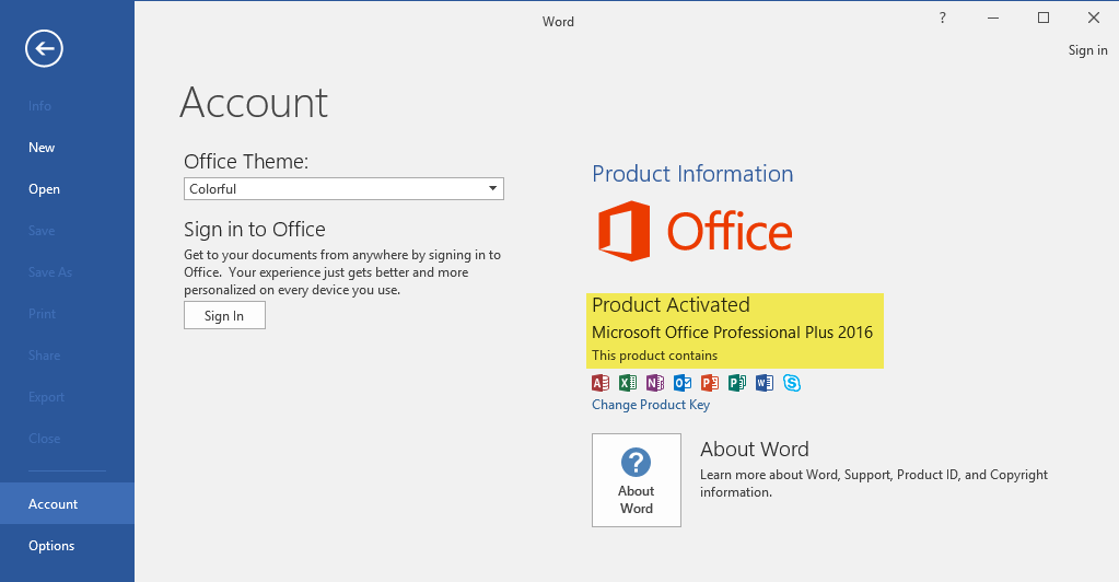 Microsoft Office Activated