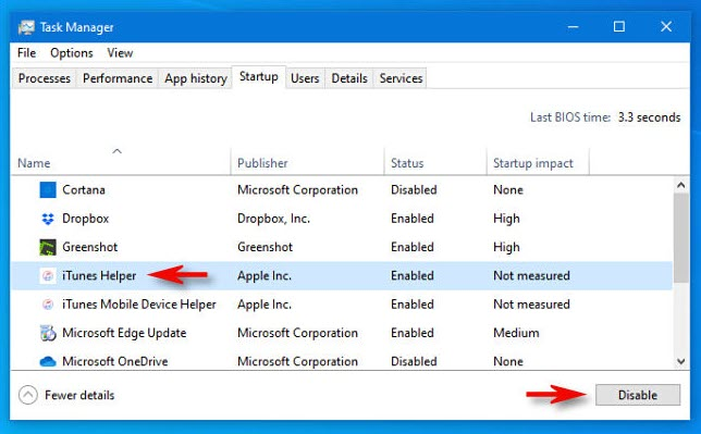 Disable iTunes Helper