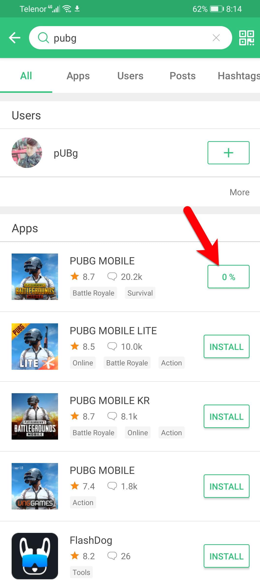 Downloading PUBG