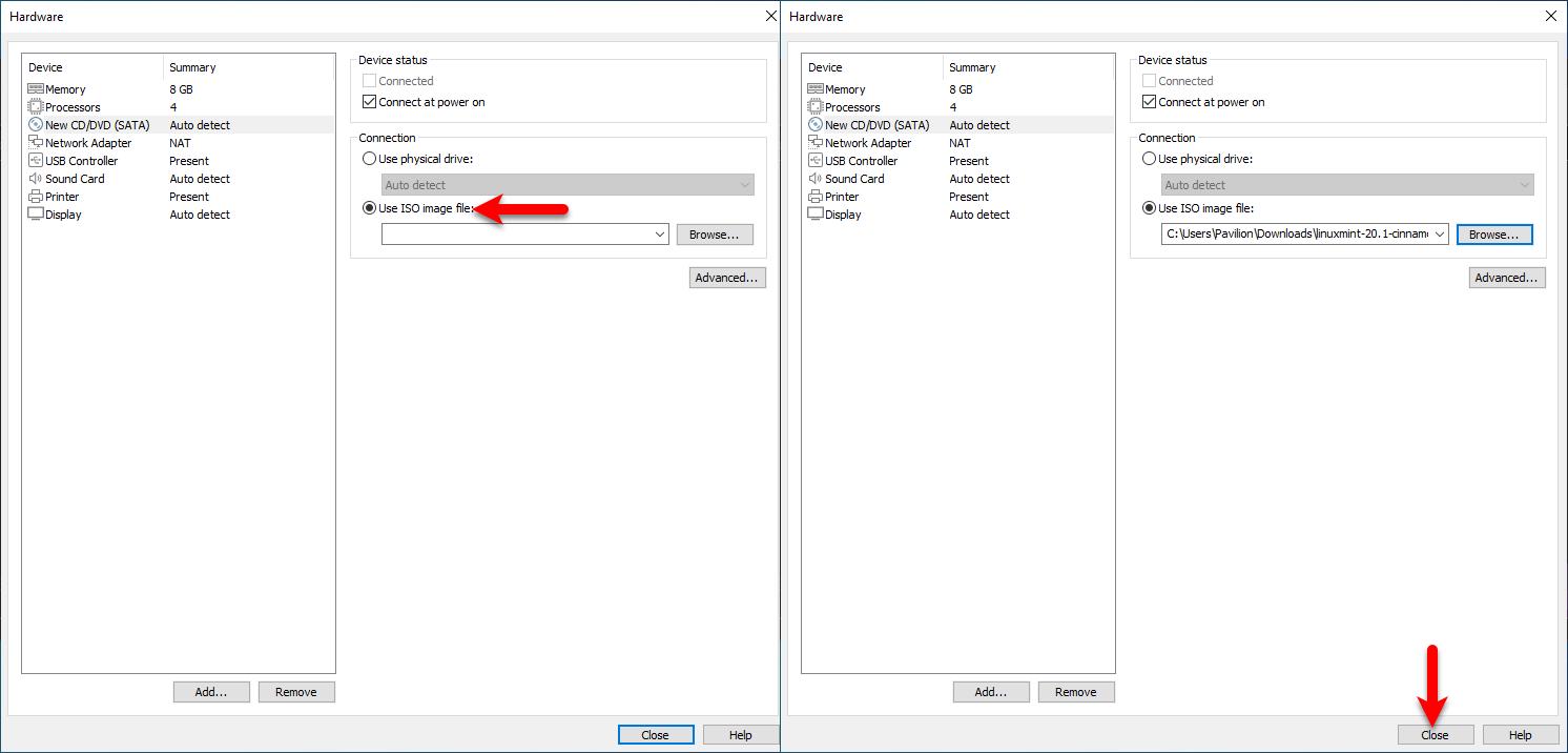 Insert ISO file