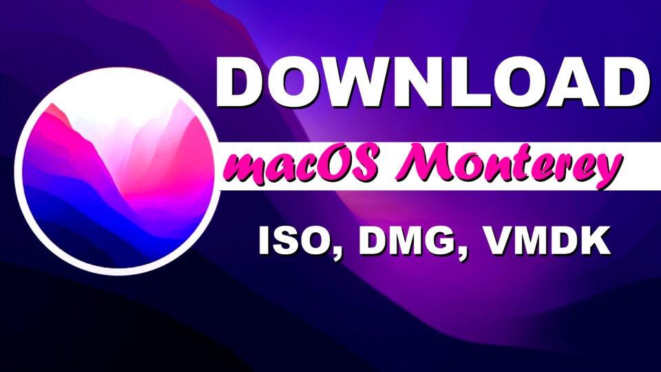 Download macOS Monterey ISO, DMG, VMDK Files