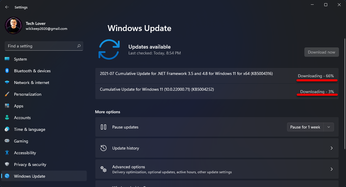 Downloading updates