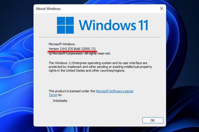 Windows 11 latest update